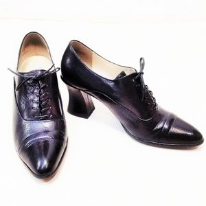 Enzo Angiolini VTG Lace Up Oxfords Granny Shoes